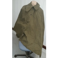 GAS / RAIN CAPE, RUBBERISED CANVAS EX-DUTCH ARMY NEW