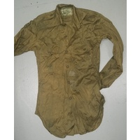 AUSTRALIAN ARMY ISSUE GREEN COTTON SHIRTS GRADE 2-3 SIZE 31""