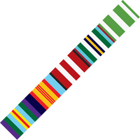 MEDAL RIBBON BUMPER STICKERS - NATIONAL SERVICE 360mm long