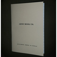 NOTEBOOKS & ACCESSORIES - ARMY BOOK AB.136 1916   A6 size 22 ruled pages
