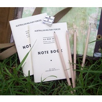 NOTEBOOKS & ACCESSORIES - NCO or OFFICER PACK - TWO AA65 PLUS TWO PENCILS & SHARPENER