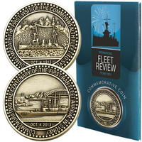 COLLECTIBLE PENNIES - INT FLEET REVIEW COMMEMORATIVE 28mm Dia