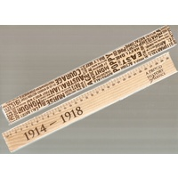 NOVELTY RULERS GREAT WAR TIMBER