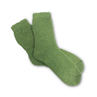 TERRY ARMY SOCKS - GREEN  SIZE 7-11 PAIR