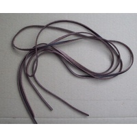 LEATHER BOOT LACES - WAPROO BROWN 120cm PAIR