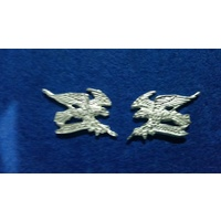 ARMY COLLAR BADGES 2 CAV PAIR