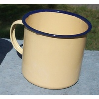 COMMONWEALTH YELLOW ENAMEL MUG 9cm