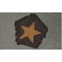 WW2 JAPANESE CAP BADGE - IJA YELLOW STAR CLOTH