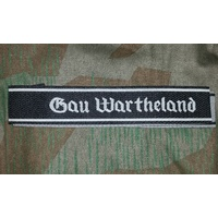 WW2 GERMAN SS CUFF TITLE - Gau Wartheland