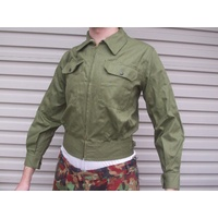 "AUST ARMY ZIP JACKET GENUINE ISSUE OLIVE GREEN size 38"" chest 97cm"