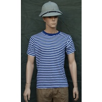 CHINESE NAVY STRIPED SHIRT - short sleeve small