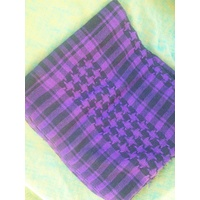 SHEMAGH / HEAD SCALF COTTON BLEND  PURPLE