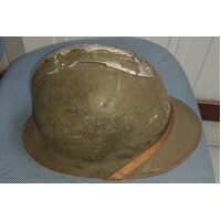 WW2 FRENCH ADRIAN HELMET - GOOD USED