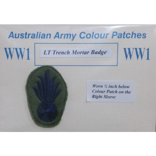 AUST TRENCH MORTAR BATTERY PATCH